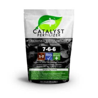Biochar version of Catalyst natural fertilizer