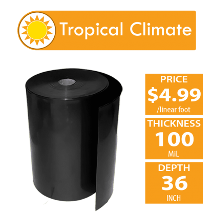 bamboo shield for tropical climates 100 mil thickness