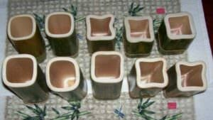 assortment of square bamboo cuts