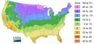 USDA Hardiness Zone Map