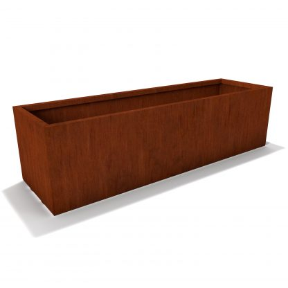 Rectangle Corten Steel Planter